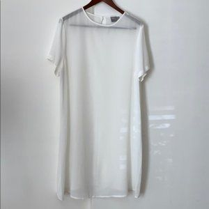 ASOS Ivory Sheer Coverup Large 14